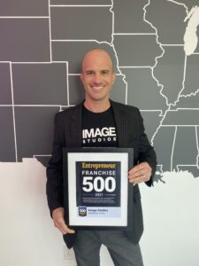 Jason Olsen with the ENTREPRENEUR'S HIGHLY COMPETITIVE 42nd ANNUAL FRANCHISE 500® Ranking